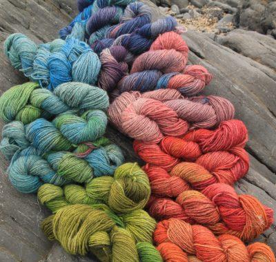 range of colours on stones